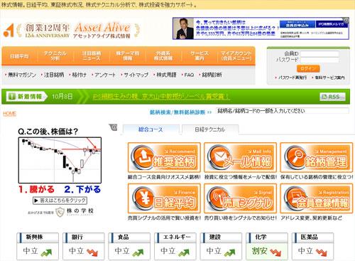 アセットアライブ株式情報